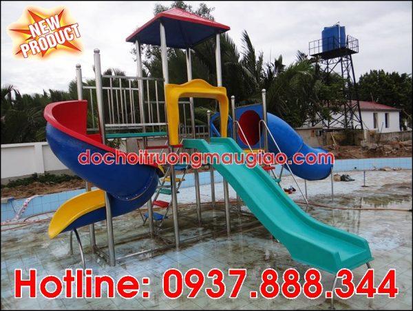 Hệ thống cầu trượt cho hồ bơi với giá rẻ, chất lượng tại HCM
