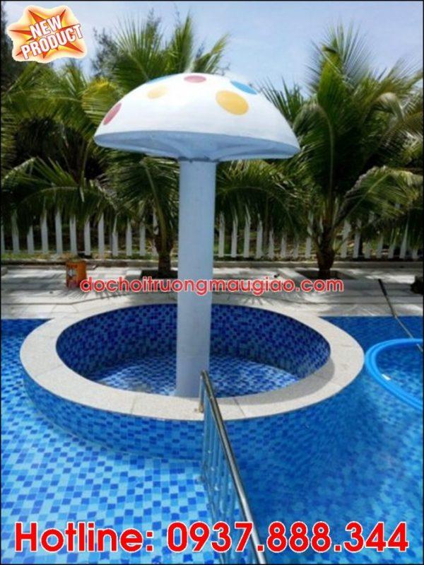 Hình ảnh vòi phun nước hình nấm đẹp mắt và ngộ nghĩnh trang trí cho bể bơi với giá rẻ chất lượng