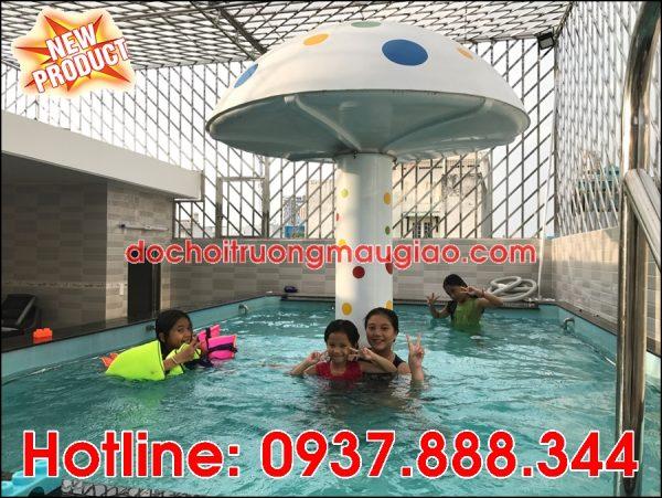 Đài phun nước hình nấm trang trí đẹp mắt cho hồ bơi tại TpHCM với giá rẻ và chất lượng