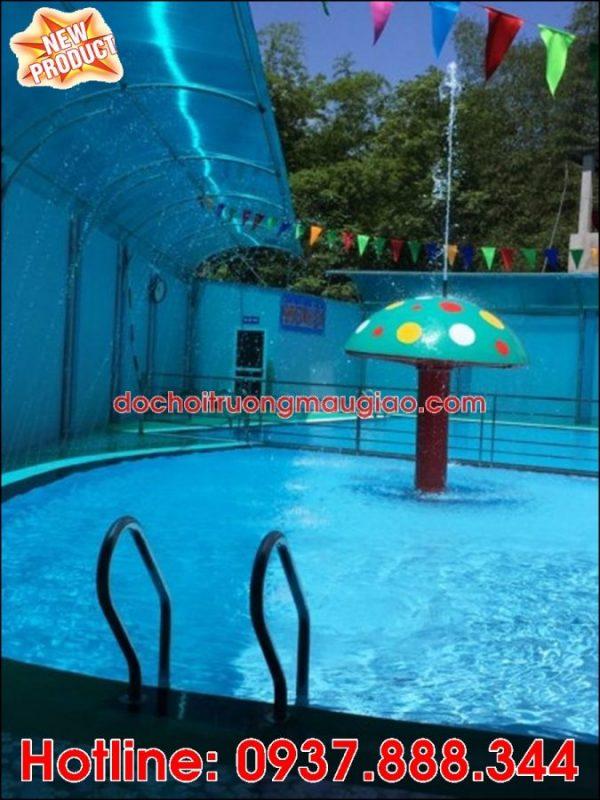 Hình ảnh: Đài phun nước hình nấm đẹp và ngộ nghĩnh dành cho hồ bơi tại HCM với giá rẻ
