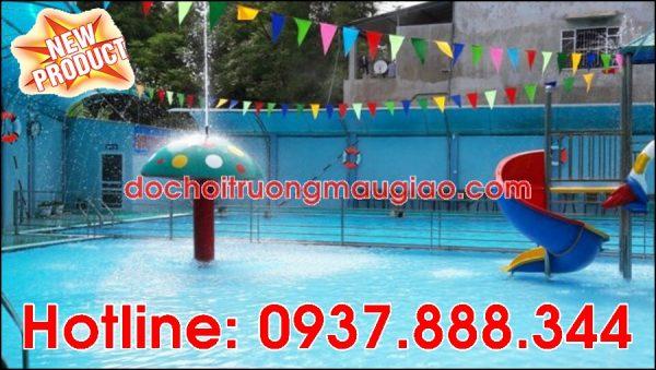 Đài phun nước hình nấm ngộ nghĩnh dành cho hồ bơi với giá rẻ tại HCM