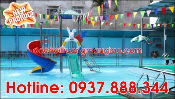 Hình ảnh cầu tuột hồ bơi giá rẻ, đẹp và chất lượng dành cho hồ bơi tại HCM