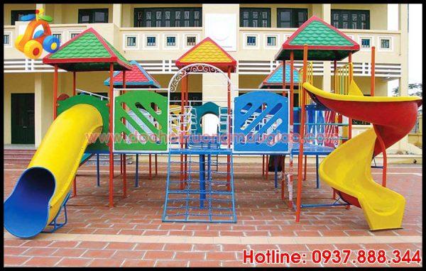 Cầu tuột trẻ em an toàn với nhiều màu sắc bắt mắt