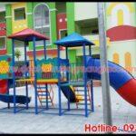 Cầu trượt với thiết kế đẹp, bắt mắt dành cho các trường mẫu giáo tại HCM