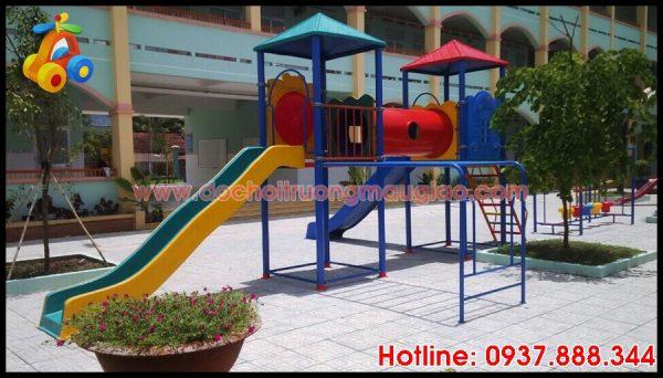Hình ảnh Cầu trượt dành cho trẻ em tại các trường mẫu giáo với giá rẻ