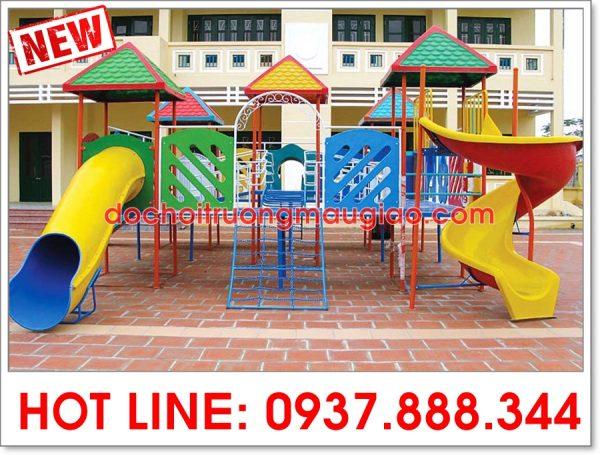 Cầu trượt liên hoàn đẹp và an toàn với giá rẻ dành cho trẻ