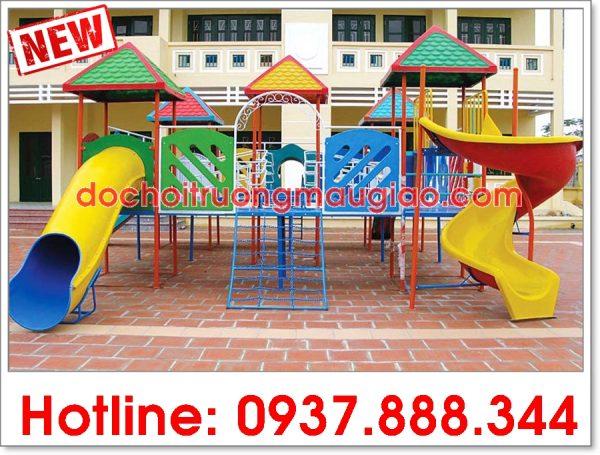 Cầu trượt liên hoàn giá rẻ chất lượng được sản xuất bởi cty Vân Anh