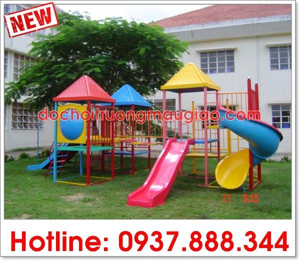 Cầu trượt liên hoàn được thiết kế đẹp mắt dành cho trẻ em lắp đặt cho các cơ sở tại HCM