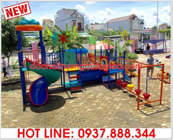 Bộ cầu tuột đa năng cho trẻ dành lắp đặt tại công viên được sản xuất bởi cty Vân Anh