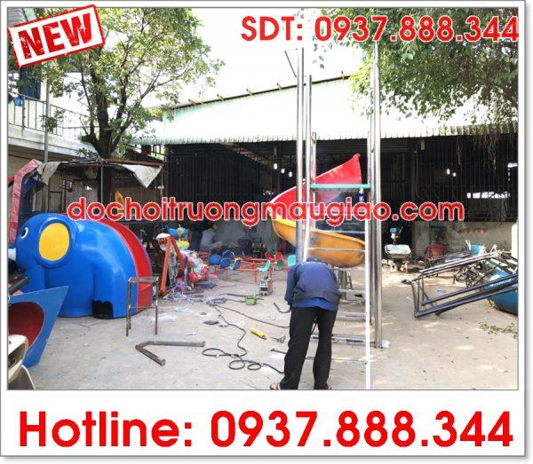 Công ty đồ chơi mầm non Vân Anh chuyên sản xuất cầu tuột tại HCM