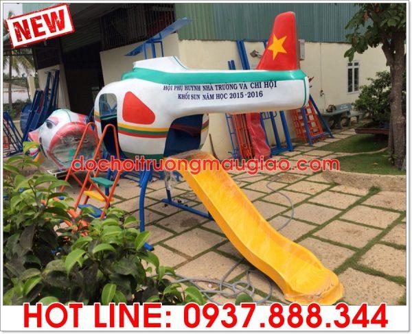 Cầu trượt mầm non hình máy bay đẹp cho bé được sản xuất bởi Cty Vân Anh