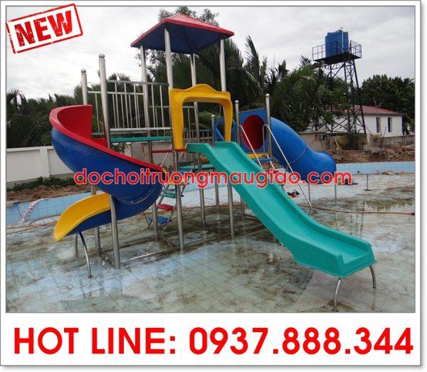 Cầu tuột bể bơi được xây dựng và thiết kế bởi cty Vân Anh