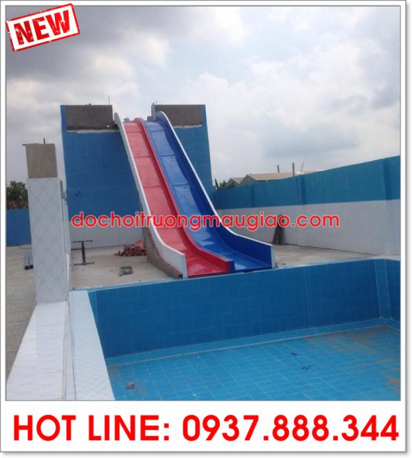 Cầu tuột bể bơi đẹp, chất lượng của công ty Vân Anh