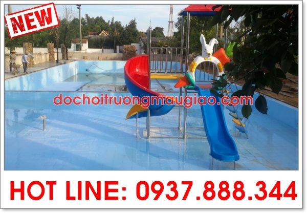 Cầu tuột hồ bơi đẹp chất lượng, giá rẻ được thiết kế bởi cty Vân Anh