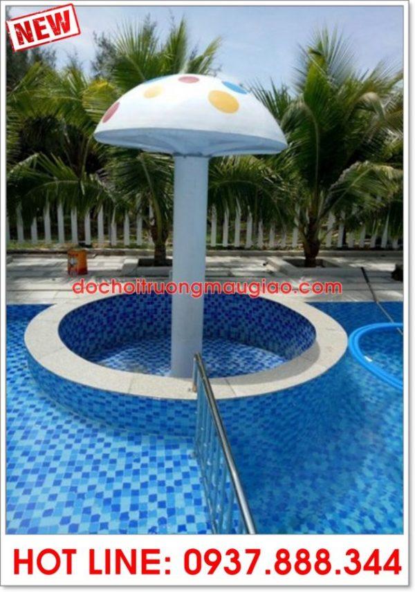 Đài phun nước được thiết kế hình nấm trang trí bởi cty Vân Anh