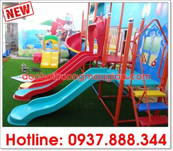 Cầu trượt trẻ em với nhiều màu sắc hài hòa, đẹp của công ty Vân Anh