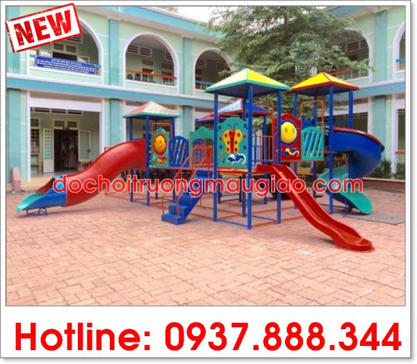 Cầu trượt mầm non giá rẻ của công ty Vân Anh được ưa chuộng trên thị trường Việt Nam