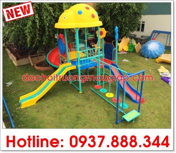 Hình ảnh: Cầu trượt đẹp, giá rẻ, chất lượng được sản xuất bởi công ty sản xuất đồ chơi mầm non Vân Anh