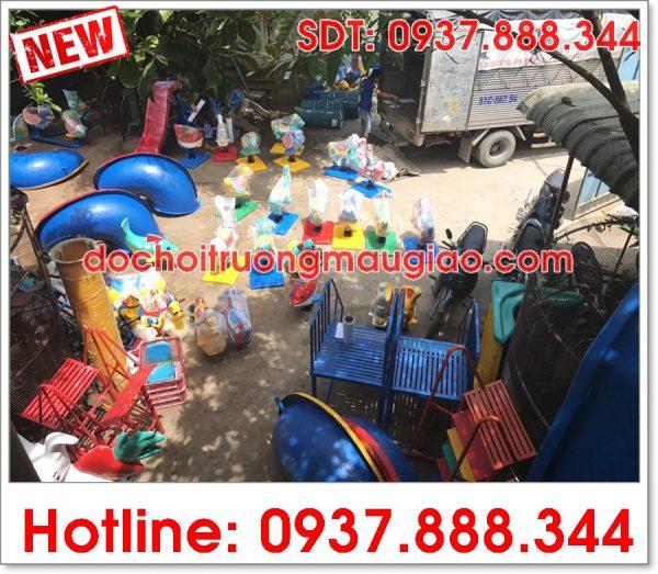 Các sản phẩm đồ chơi mầm non ngộ nhĩnh được sản xuất tại công ty Vân Anh